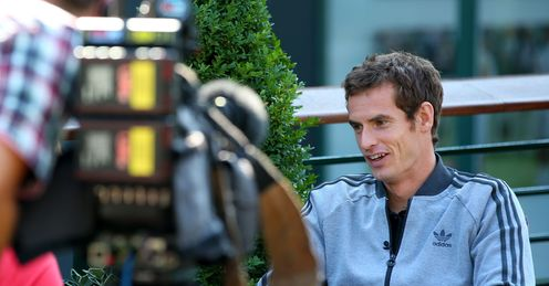 Andy Murray: back in front of the cameras this week in Canada