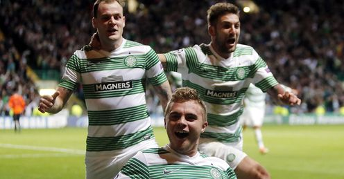 Fan-tastic: Celtic and their supporters are in for a treat following the Champions League draw