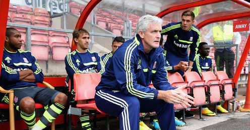 Mark Hughes: he and Stoke will be part of Soccer Saturday's build-up to the new Premier League season
