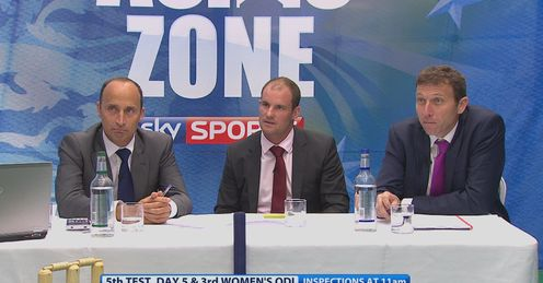 Nasser Hussain, Andrew Strauss and Mike Atherton in the Ashes Zone