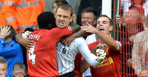 Simon Mignolet: denied Stoke on opening day, but can Liverpool break duck at stoke