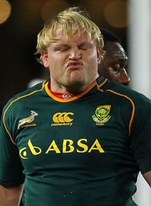 Adriaan Strauss close up Springboks