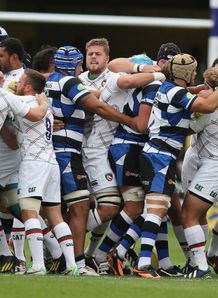 Bath v Leicester Tigers fight 2013 rec