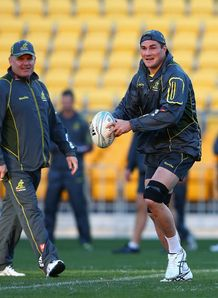 Ben Mowen Wallabies training 2013