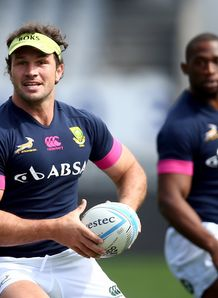 Bismarck du Plessis in Springboks training