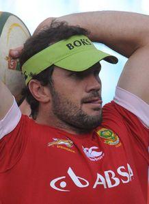 Bismarck du Plessis line out practice