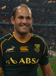 Fourie du Preez springbok all smiles