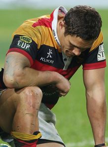 Jackson Willison on one knee for Waikato