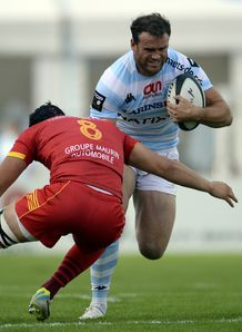Jamie Roberts in Racing Metro colours