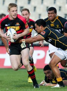 Johnny McNicholl in action for Canterbury
