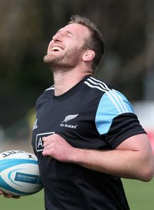 Kieran Read the All Black captain smiles