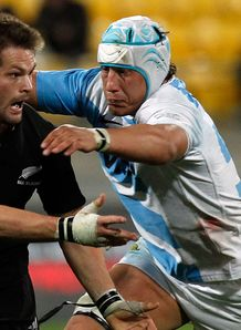 Patricio Albacete tackles Argentina v New Zealand