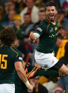 Willie Le Roux South Africa celebrates