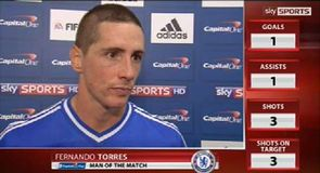 Torres on target for Chelsea