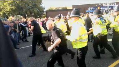Vale fans confront police