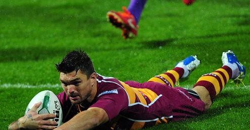 Huddersfield v Wigan Danny Brough try
