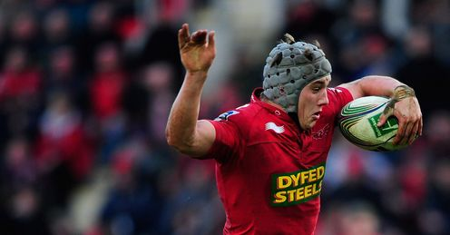 Davies: back for the Scarlets