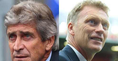 Manuel Pellegrini and David Moyes: facing each other for the first time