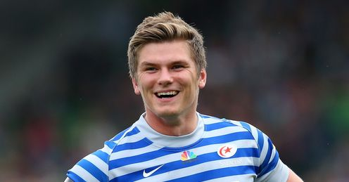 Owen Farrell smiling for Saracens