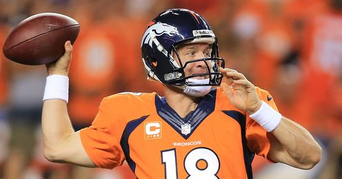 Peyton Manning in record breaking form