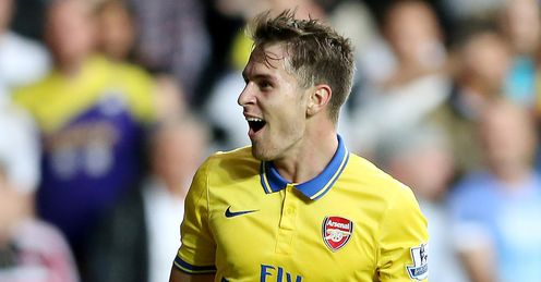 Aaron Ramsey: In fine form for Arsenal