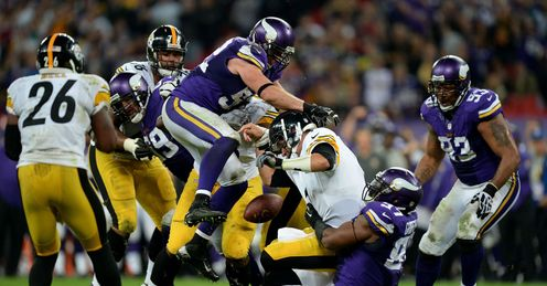 Wembley wonder: The Steelers and Vikings served up a great show on Sunday