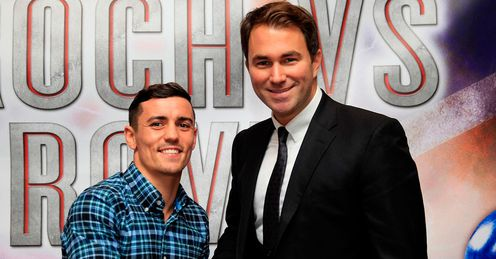 Crolla: the lightweight fighter (L) with new promoter, Eddie Hearn