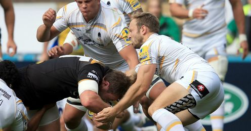 MATT MULLAN LONDON WASPS TRY V WORCESTER WARRIORS