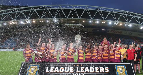 RUGBY LEAGUE SUPER LEAGUE JOHN SMITH'S STADIUM Huddersfield Giants League Leaders' Shield