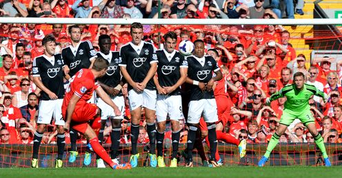 Blocked: Southampton one of the few teams to shutout Liverpool this season