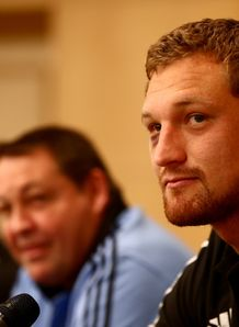 Dominic Bird at All Blacks press conference