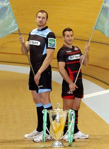 Glasgow Warriors Captain Alastair Kellock left and Edinburgh Rugby Captain Greig Laidlaw