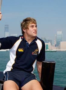 James O Connor of the Wallabies poses on a cruise