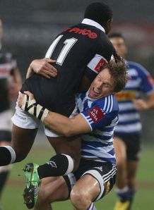 Lwazi Mvovo and Jean de Villiers Sharks v WP CC 2013