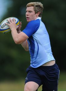Newcastle Falcons player Danny Barnes in action during Falcons training