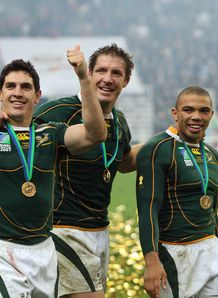 South Africa s LtoR centre Jaque Fourie lock Bakkies Botha and winger Bryan Habana
