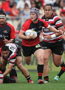 Tyler Bleyendaal on a run for Canterbury
