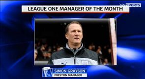 Grayson awarded manager of the month