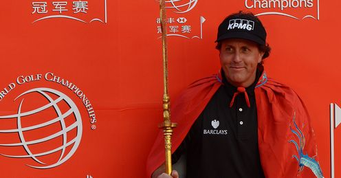Mickelson in Shanghai earlier this week