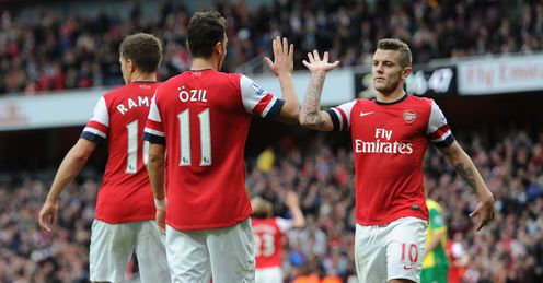 Arsenal: top of the table after eight games