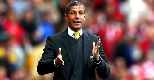 Hughton: his Norwich side must respond from maulings in Manchester