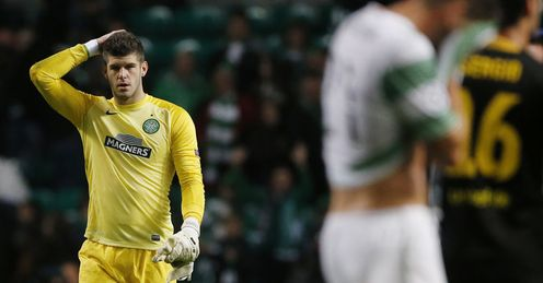 Fraser Forster's performance was a rare positive for Celtic