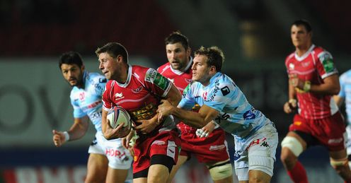 Rhys Priestland for the Scarlets