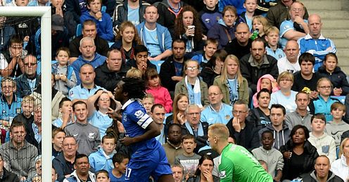 Romelu Lukaku Man City v Everton