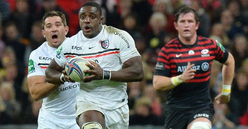 Toulouse s flanker Yannick Nyanga runs with the ball
