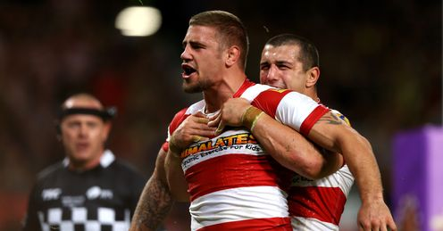 MICHAEL MCIILORUM BEN FLOWER WIGAN WARRIORS GRAND FINAL