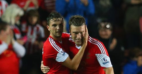 Jay Rodriguez and Rickie Lambert: starred for Saints on Saturday