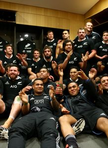 All Blacks in the changing room