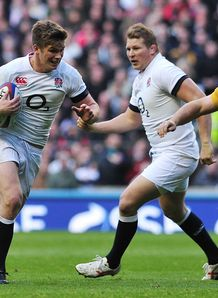 England fly half Owen Farrell v Australia at Twickenham Stadium
