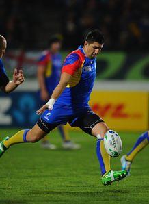 Florin Vlaicu of Romania kicks
